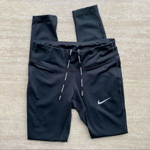 Nike Running Full Length Tights with Mesh Detail